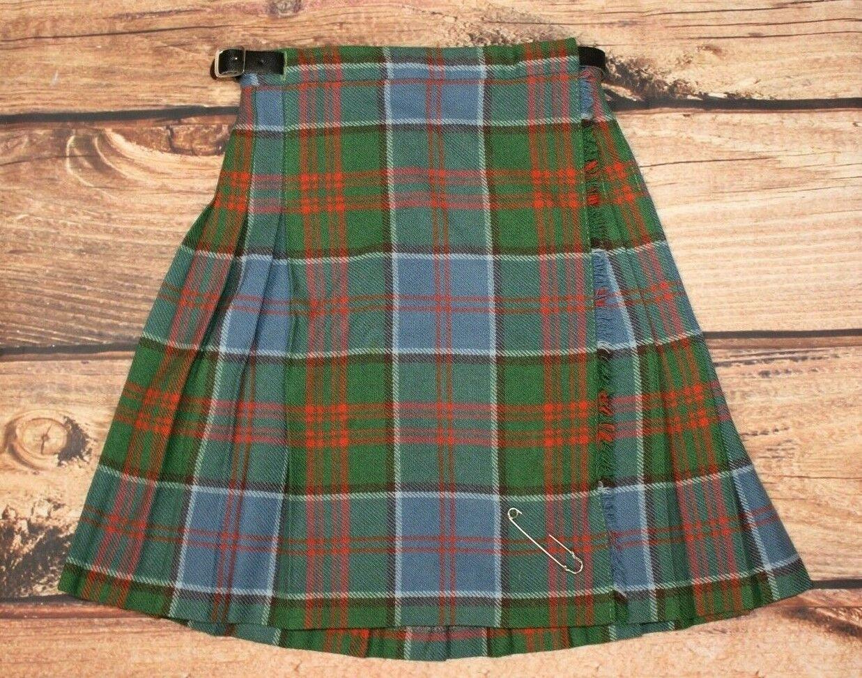 Boys Kilt Tartan Made In Pitlochry Scotland 100% Wool 6- 8 Years