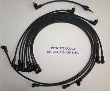 Big Block Dodge 1959-1972 383-400-413-426-440 BLACK Spark Plug Wires-POINTS USA