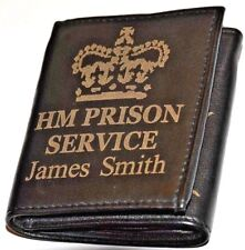 HM PRISON SERVICE PERSONALISED GIFT WALLET ENGRAVED WITH ANY NAME & NUMBER