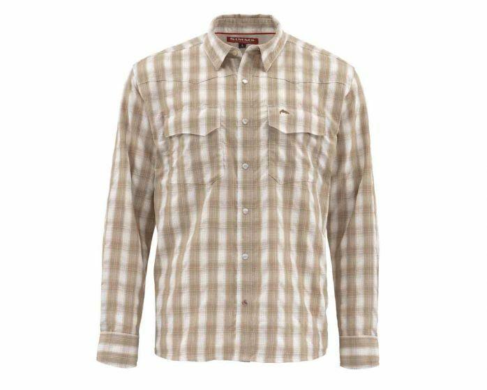 Simms - Big Sky Long Sleeve Shirt -Shittake Plaid  Größe XL - Closeout