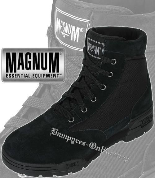 Hi-Tec Magnum Mid Suede Stiefel Schwarz Wildleder Schuhe HiTec Security Boots