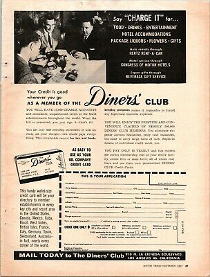 Diners Club Card Easy As Oil Company Credit Member Charge ...