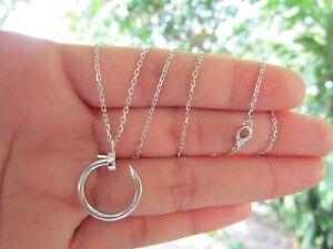 White Gold Nail Necklace 18k codeNx22 sepvergara
