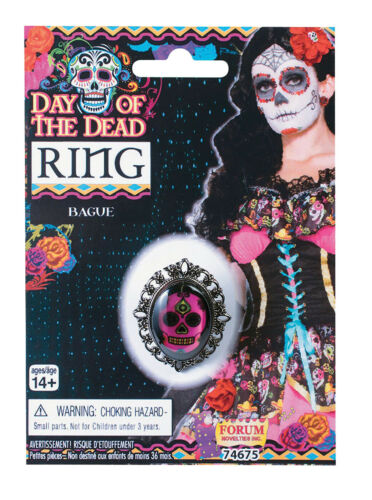 Day Of The Dead Sugar Skull Mexican #Accessories Ring Or Earrings Fancy Dress