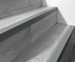 "118 cm 46,45"" Stair nosing non slip RGPT rubber angle 52x40mm step edge Bullnose"