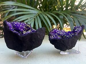 Purple-Geode-Pair-Open-Crystal-Geode-Gemstone-Specimen-Morocco-Geode-Dyed-Reiki