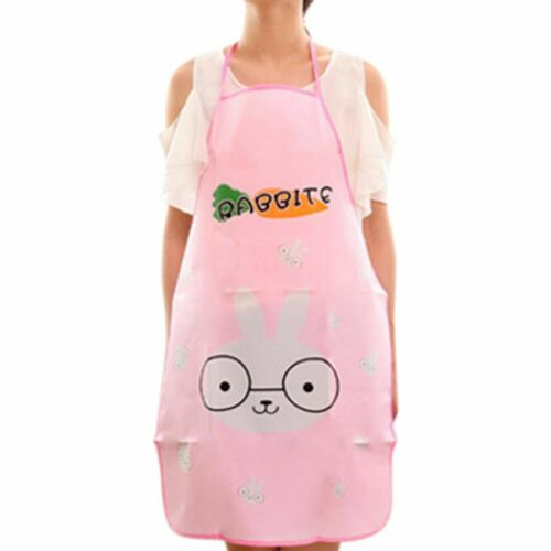 Women Cute Cartoon Waterproof Apron Kitchen Restaurant Cooking Bib Aprons