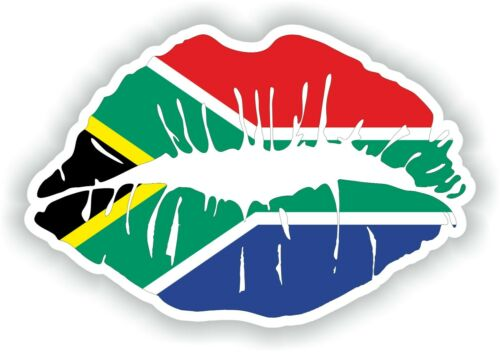 South Africa Flag Lips Sticker Decal Car Bumper Travel Laptop Suitcase