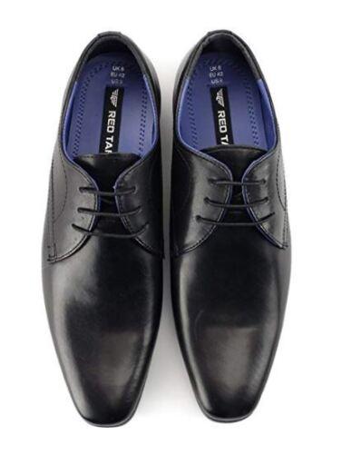 Mens Red Tape School Shoe Chisel Toe Black Leather Work Shoe Leven