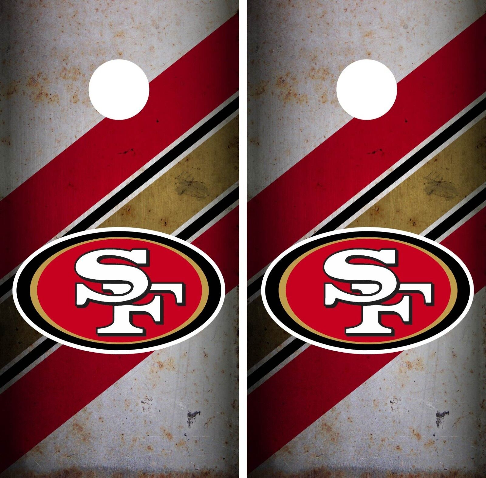 San Francisco 49ERS Cornhole Wrap  NFL Game Skin Board Set Vinyl Art CO113  high quality