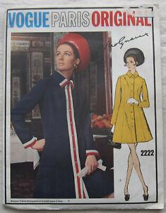 Vintage-Dress-Sewing-Pattern-Vogue-2222-Size-10-UNCUT-FF-Paris-Original-Molyneux