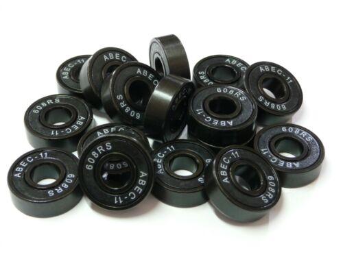 ... black//black ** 8x ABEC11-Kugellager 608-2RS.ABEC11 8x22x7mm ...** NEU **