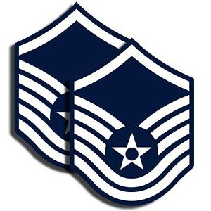 AIR-FORCE-Rank-Master-Sergeant-Sticker-Military-Decal-2-Pack-3-034-tall