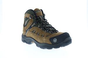 Hi-Tec Bandera Mid Wp 7035 Mens Brown Suede Lace Up Hiking Boots
