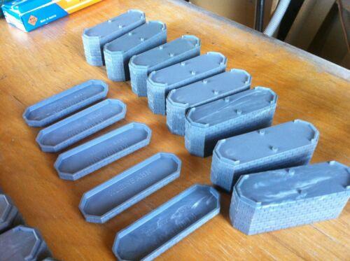 KLEINBAHN BRÜCKENPFEILER  2 Steinreihen jeweils 5 Stück 7mm