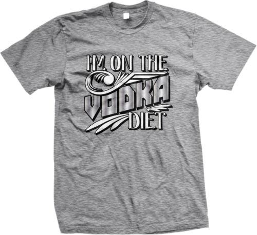 Im On The Vodka Diet Meme Joke Funny Humor Drinking Alcohol Mens T-shirt