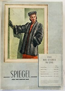 VTG 40s 1944 Spiegel Fall Winter Mail Order Catalog Fashion Home Decor Jewelry
