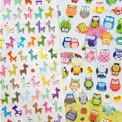 1pc Photo DIY Animal Planner Diary Sticker Biscuit Scrapbook Calendar Decor AU24