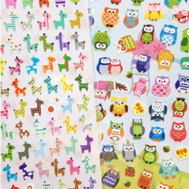 1sheet giraffe owl cartoon paper decorative phone stationery diary sticker  CL