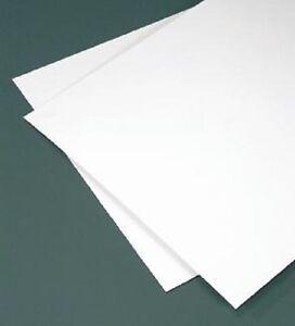"WHITE STYRENE POLYSTYRENE PLASTIC SHEET 12/"" X 24/"" X 1//8/"" VACUUM FORMING 4 Pack"