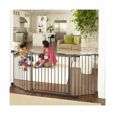 """Bronze Supergate Deluxe Décor Gate Fits Spaces between 38.3/"""" to 72/"""" Wide and"""