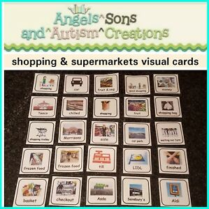 SHOPPING-amp-SUPERMARKETS-CARDS-PECS-VISUAL-AIDS-AUTISM-SPECIAL-NEEDS