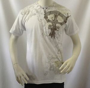 Men-039-s-T-shirt-Filter-Brand-Limited-Edition-Gothic-Pattern-100-Cotton-Tee-White