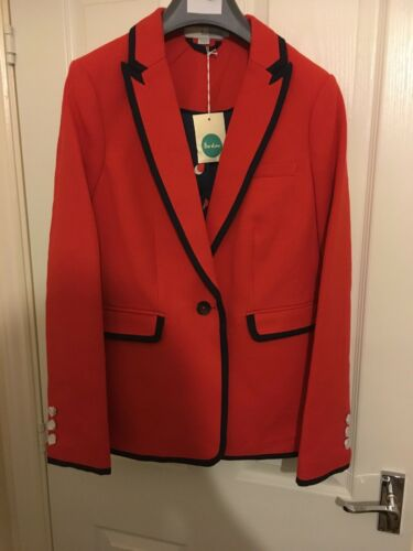 Pointe Boden Blazer Red Uk 10 De Nwt Normal Picardie rrCqf76Ew
