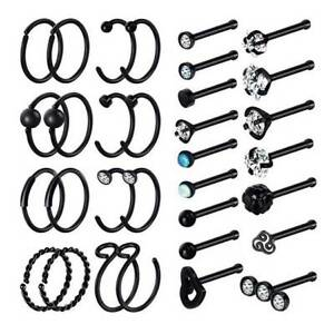 32PCS-Nose-Hoop-Ring-Bone-Studs-Surgical-Steel-Straight-Bar-Lip-Ear-Piercing-20G