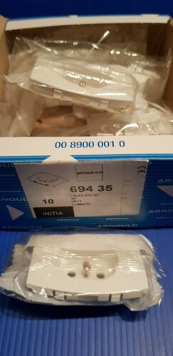 enjoliveur de prise blanche initia arnould ref 69435 vente a l unité