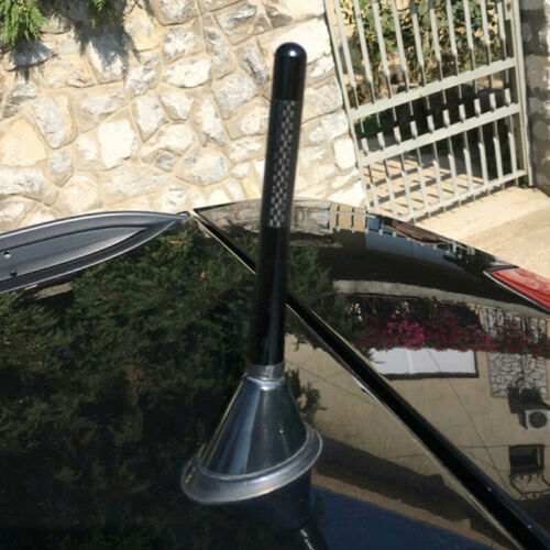 4.7inches Universal Car Antenna Carbon Fiber Radio FM Antena Black Kit And/' WYC
