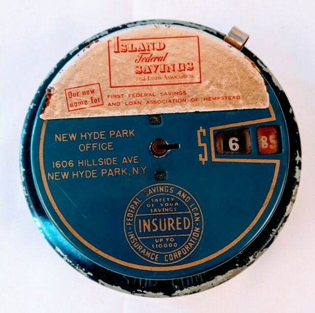 Vintage Add O Bank Coin Saver Island Federal Savings New Hyde Park New York NY