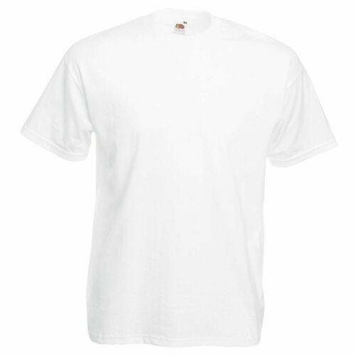 FRUIT OF THE LOOM PLAIN BLANK MENS WOMENS VALUEWEIGHT T-SHIRT S-2XL SS6
