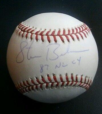 Sports Mem, Cards & Fan Shop Steve Bedrosian Autographed Rawlings Official Nl Baseball To Help Digest Greasy Food