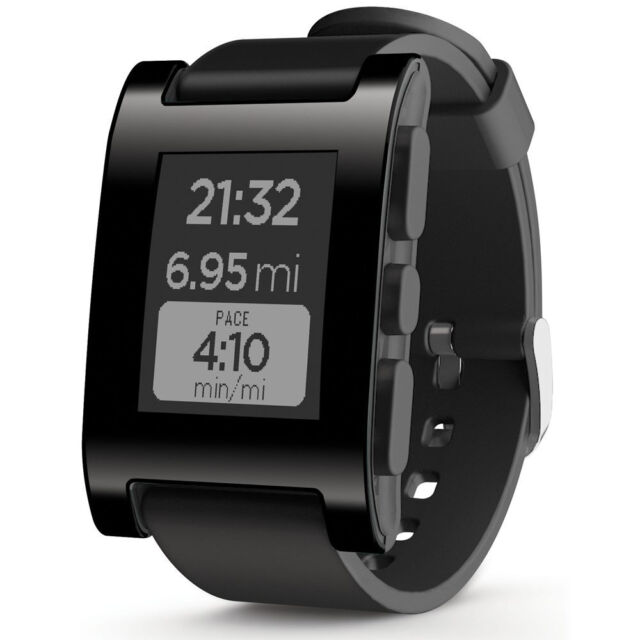 Pebble Smartwatch For iPhone or Android, Black