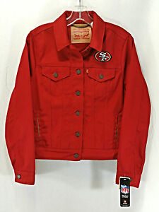LEVI STRAUSS   CO. Women s San Francisco 49ers Red Jean Jacket Size ... c838c40eb4