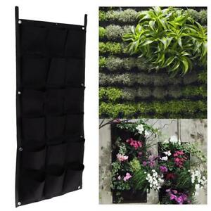 Details About Vertical Flower Planter Wall Hanging Pockets Garden Plants Pots Green Wall Decor