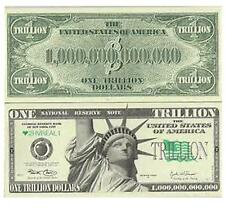 50 PIECE OF FAKE TRICK TRILLION DOLLAR BILLS play novelty money dollars bill NEW