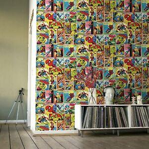 Marvel-Bd-Bande-Papier-Peint-Multi-Muriva-159501-Chambre-Enfants