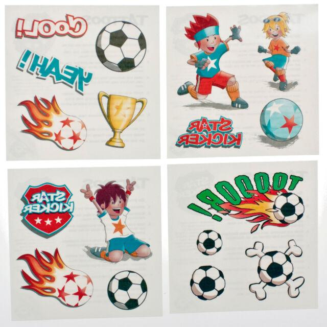 Fussball Körper Tattoo 4 Bögen Kinder Mitgebsel Set FußballKindergeburtstag