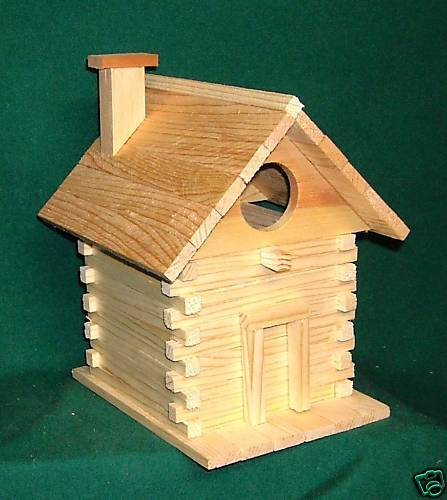Hand made in USA 1 Lot of 20ea Log Cabin Bird House Kits  Dealer deal