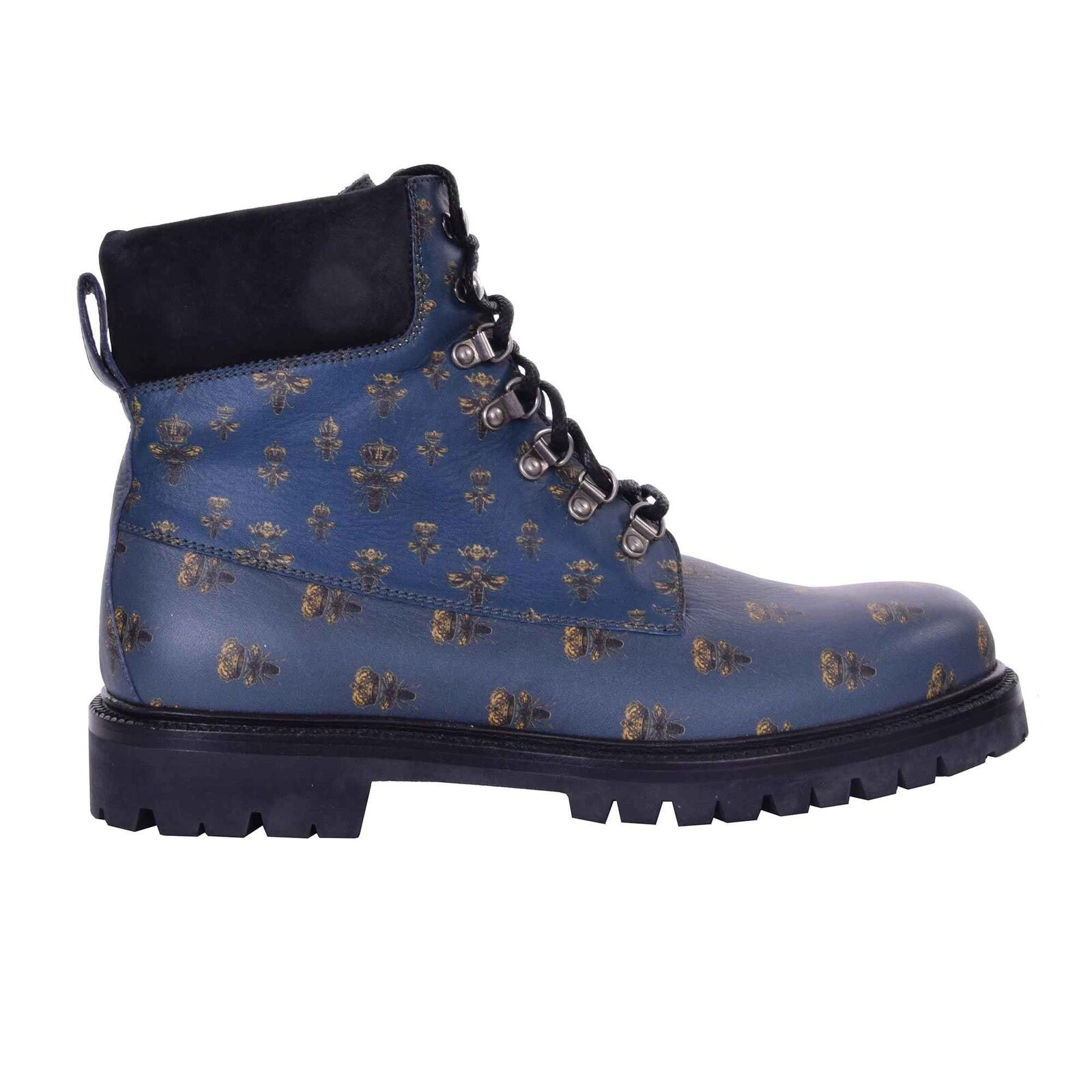 Dolce & gabbana ankle boots bagheria bee crowns blue black 06963