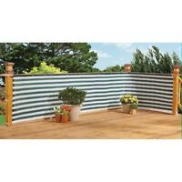 Flexible Outdoor Water Proof Two-toned Privacy Deck Fence - Privacy Screen on sale