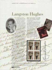 #647 34c Langston Hughes #3557 USPS Commemorative Stamp Panel