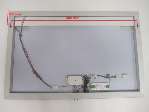 Tochschalter 100x65cm LED Badezimmer Lichtspiegel Badspiegel Wandspiegel Uhr