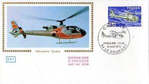 1805+ FDC  ENVELOPPE 1er JOUR  CEF  HELICOPTERE  GAZELLE