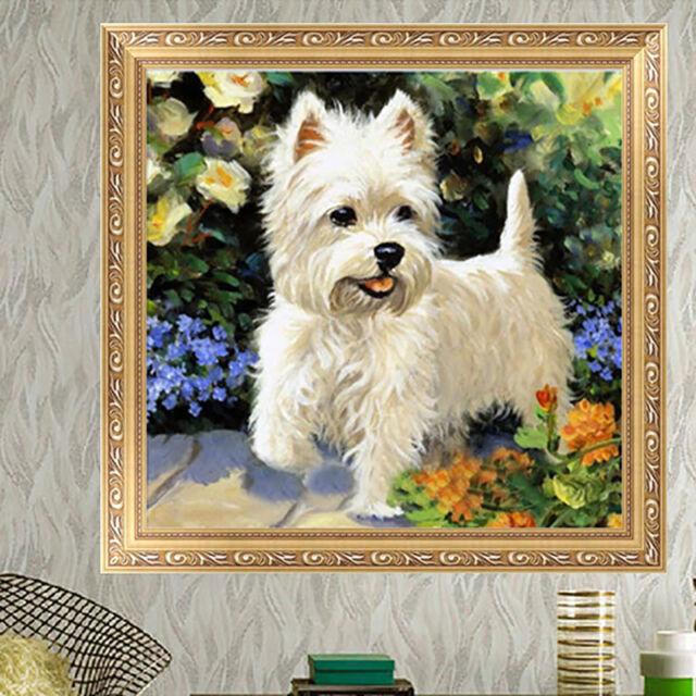 DIY 5D Diamond Painting Cute Dog Animal Embroidery Cross Stitch Home Decor Craft