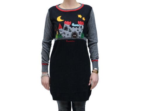 de jersey longues avec design petite un Manches en et gris noir Braccialini robe qRzUBA