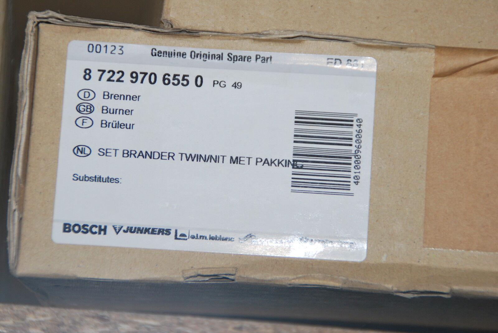 BRENNER BOSCH 87229706550 RADSON RADSON RADSON BURNER SET BRANDER TWIN NOX MET PAKKING NEU 466088