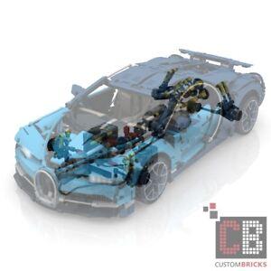 Custom Brick Fait Maison Pièces Jointes Manuel Pour 42083 Bugatti Rc Moc
